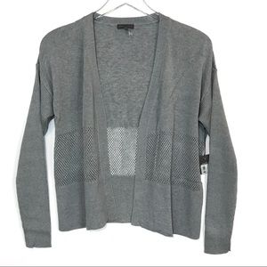 NWT Vince Camuto Mesh Inset Cardigan Size XS